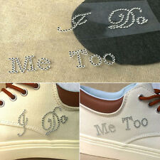 1 Set I Do Me Too Bridal Groom Shoe Sticker White Clear Rhinestone Wedding Decor