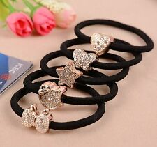 10 *Women Crystal Elastic Hair Ties Band Ropes Ring Ponytail Holder Accessories
