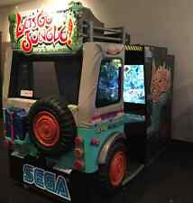 Lets go Jungle Deluxe Arcade Game From Sega NICE! LCD MONITOR!