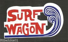 SURF WOODY WAGON Panel Van UTE Surfboard Sticker Decal Longboard Surfing Ford VW