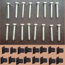 Land Rover Defender 90,110 Stainless Steel Light Lens Screws & Mounting Clips