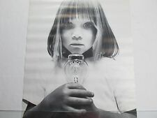 Vintage 1970 PEACE GIRL Light Bulb Energy Poster Lloyd Johnson J&M Co. Rare NOS