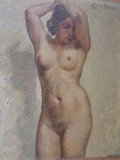 Émile Baes 1879-1954-Belgique-Huile/ toile-Nu-femme-HST--oil