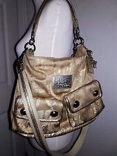 Coach Poppy Pop C Storypatch Shoulder Bag Hand Bag Crossbody GOLD 15304 15X11