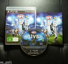 AFL Live (Sony PlayStation 3, 2011) PS3 - FREE POSTAGE