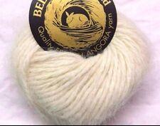 CHAMPAGNE 1 Skein Galler BELANGOR 100% ANGORA Rabbit Fur ULTRA-SOFT Luxury Yarn