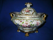 Antique jacob petit paris porcelaine couvert sucrier/sucrier 19th