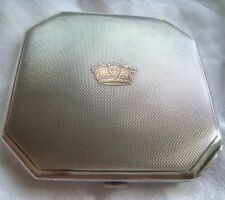 COMPACT SILVER CROWN HALLMARK ENGLAND GOLDSMITH C&N POUDRIER ARGENT COURONNE