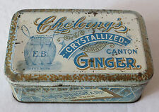 Early 1900's CHELOONG'S CRYSTALLIZED CANTON GINGER Tin EDWARD BENNECHE & BRO. NY