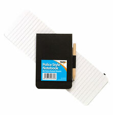 Police Style Notebook Notepad Reporter Pocket 96 Sheets With Pencil Elastic
