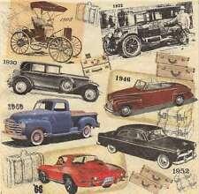 2 Serviettes en papier Voitures anciennes - Paper Napkins Classic Cars