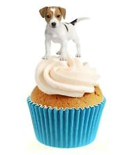Novelty Cute Jack Russell Puppy 12 Edible Stand Up wafer paper cake toppers