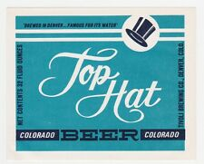 Top Hat Beer Label