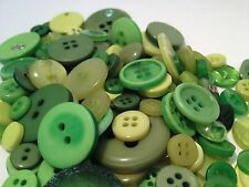 50g ASSORTED GREEN BULK BUTTON MIX FOR CRAFTS, SCRAPBOOKS, SEWING AND CARDS