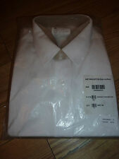 "ROYAL NAVY MANS EXTRA LONG SLEEVE WHITE SHIRT SIZE 44CM/17.5"" GENUINE RN ISSUE"