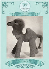 Vintage Visage 1940s wartime Camel toy sewing pattern-full size paper pieces