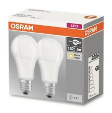2er Pack OSRAM LED base Classic a10 e27 13w blanco cálido LED-lámpara = 100w bombilla