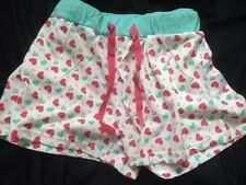 NEW Ladies Pyjama Shorts Heart Design TG Size 12/14 BNWT Nightwear Loungewear