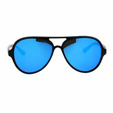 SA106 Mens Flat Lens Color Mirror Racer Plastic Aviator Sunglasses