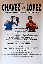 JULIO CESAR CHAVEZ vs. TONY LOPEZ / Original Kingvision PPV Boxing Fight Poster