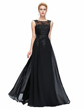 Women's Formal Applique Sleeve Evening Dress Party Prom Gown Bridesmaid Dresses