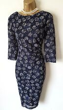 PHASE EIGHT Navy Blue Lace Dress 14 BNWT Spot Stretch Wiggle Party Christmas
