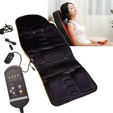 Black Back Massage Chair Heat Seat /Cushion Neck Pain Lumbar Support Pads Car