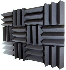 "4"" x 12"" x 12"" Charcoal Acoustic Wedge Studio Foam 12 Pack"