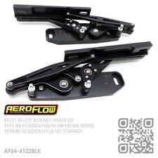 BILLET BLACK ALLOY BONNET HINGES [HOLDEN HQ-HJ-HX-HZ-WB MONARO/GTS/UTE/VAN]