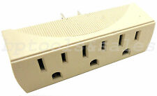 3 Outlet Electrical Power Grounded Wall Socket Tripple Tap Outlet Adapter NEW