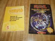 Yu-Gi-Oh Dueling Legends Official Handbook & Shonen Jump Naruto Uncut Box Set 5