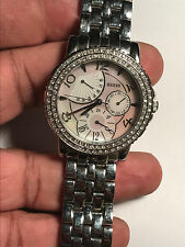 Super Nice Ladies Silver Tone Guess U15008L Analog Watch