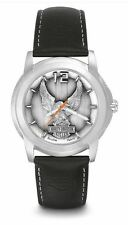 NEW Harley-Davidson® Bulova Men's Eagle Bar & Shield Steel Leather Watch 76A12