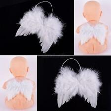 Newborn Infant Toddler Baby Kids White Angel Fairy Feather Wings Props Costume