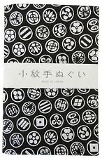 Japanese traditional towel TENUGUI BLACK KAMON NEW COTTON MADE IN JAPAN