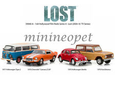 GREENLIGHT 59040 HOLLYWOOD FILM REELS TV SERIES 4 CAR COLLECTOR'S SET 1/64 LOST