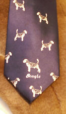 BEAGLE DOG SILK TIE 100% SILK NEW