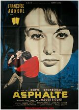 ASPHALTE Affiche Cinéma Originale / French Movie Poster Françoise Arnoul LITHO