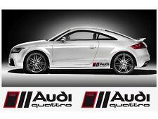 2x Audi Quattro Aufkleber Premium Seitenrockabziehbilder