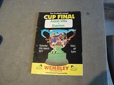 Aston Villa v Everton 1977 League Cup Final