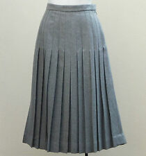 Vintage pleated Scottish skirt Scott the Kilt Maker Grey wool Ladies waist 26""
