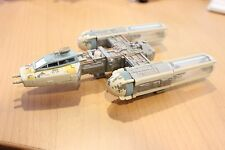 1996 Vintage Action Fleet Micro Machines Star Wars Y-wing Gold Leader With Droid
