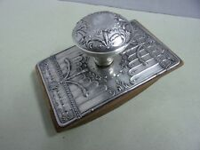 Antique Art Nouveau Ink Blotter in boar silver Portugal