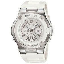 Casio Baby-G Womens Wrist Watch BGA110-7B BGA-110-7B Digital Analogue White New