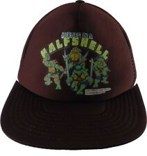 TMNT Heroes in a Halfshell Teenage Mutant Ninja Turtles Snapback Hat 1988 VTG