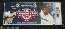 RARE 2010 Seattle Mariners Full Ticket - Sample Test Ken GRIFFEY Jr. and ICHIRO