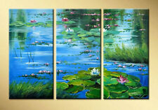 MODERN 3pc ABSTRACT HUGE WALL ART Hand OIL PAINTING ON CANVAS (No frame)
