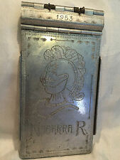 Collectible Rare Vintage1953 Ferrocarril Mexicano Metal Ticket Tray/Cover