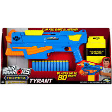 NEW BuzzBee Air Warriors Air Max TYRANT Foam Dart Blaster *Fires Up to 80ft