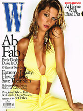 W Magazine October 2001 GISELE BUNDCHEN Brad Pitt ERIN WASSON Kate Beckinsale
